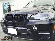Matte Black M Style Front Grille Grill For 2007-2013 BMW E70 E71 X5 X6 SUV