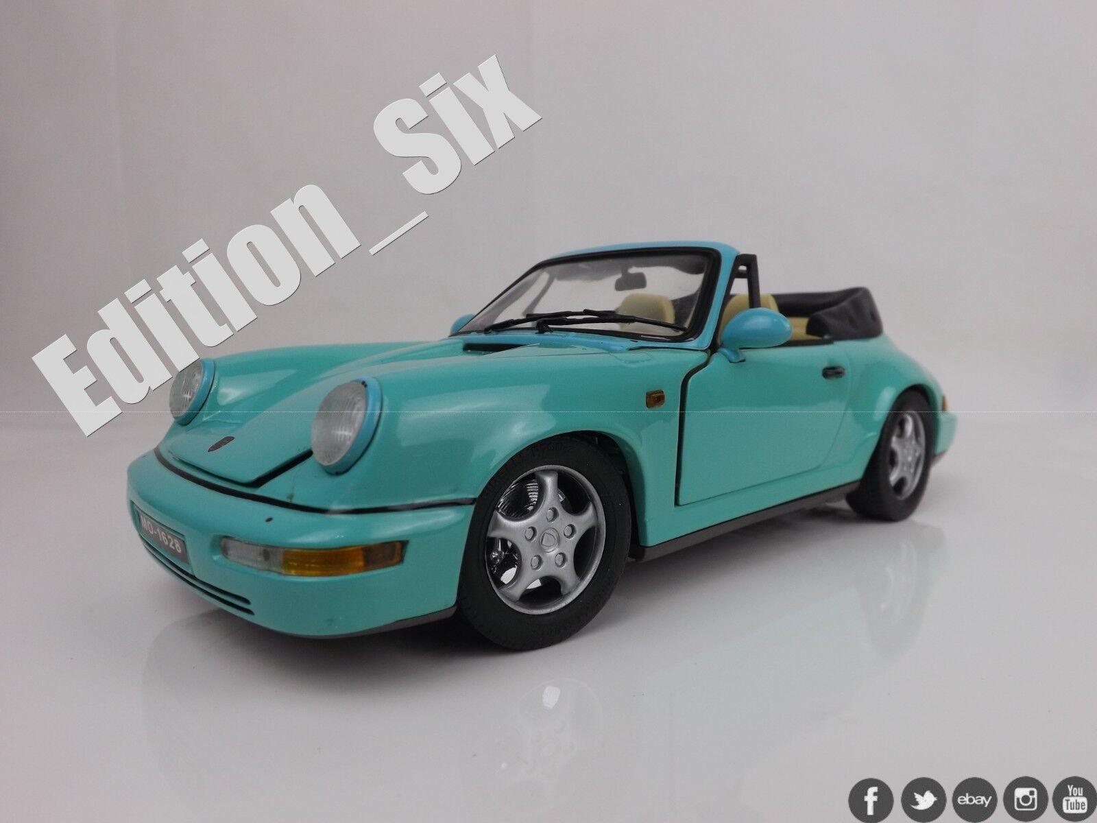 Anson 1 18 scale PORSCHE 911 CABRIOLET vintage release model car Mint Green