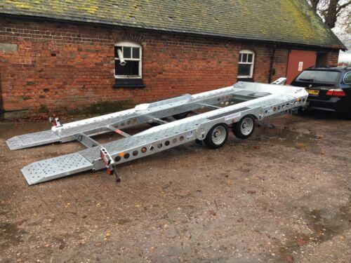 17/' Ifor Williams CT177 Tilt Bed Car Transporter Trailer Hire Cheshire 2700kg