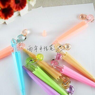 5pcs/lot Colorful Cute Umbrella pen Office School Supplies Student gel pen