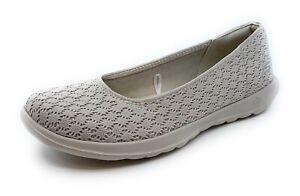 Dettagli su Skechers donna Go Walk Lite LOVABLE 15386NAT Mocassini Scarpe casual (senza scatola) mostra il titolo originale