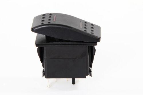 # 5 PCS MARINE BOAT TRAILER ROCKER SWITCH ON-OFF-ON SPDT 4 PIN 2 RED LED RV