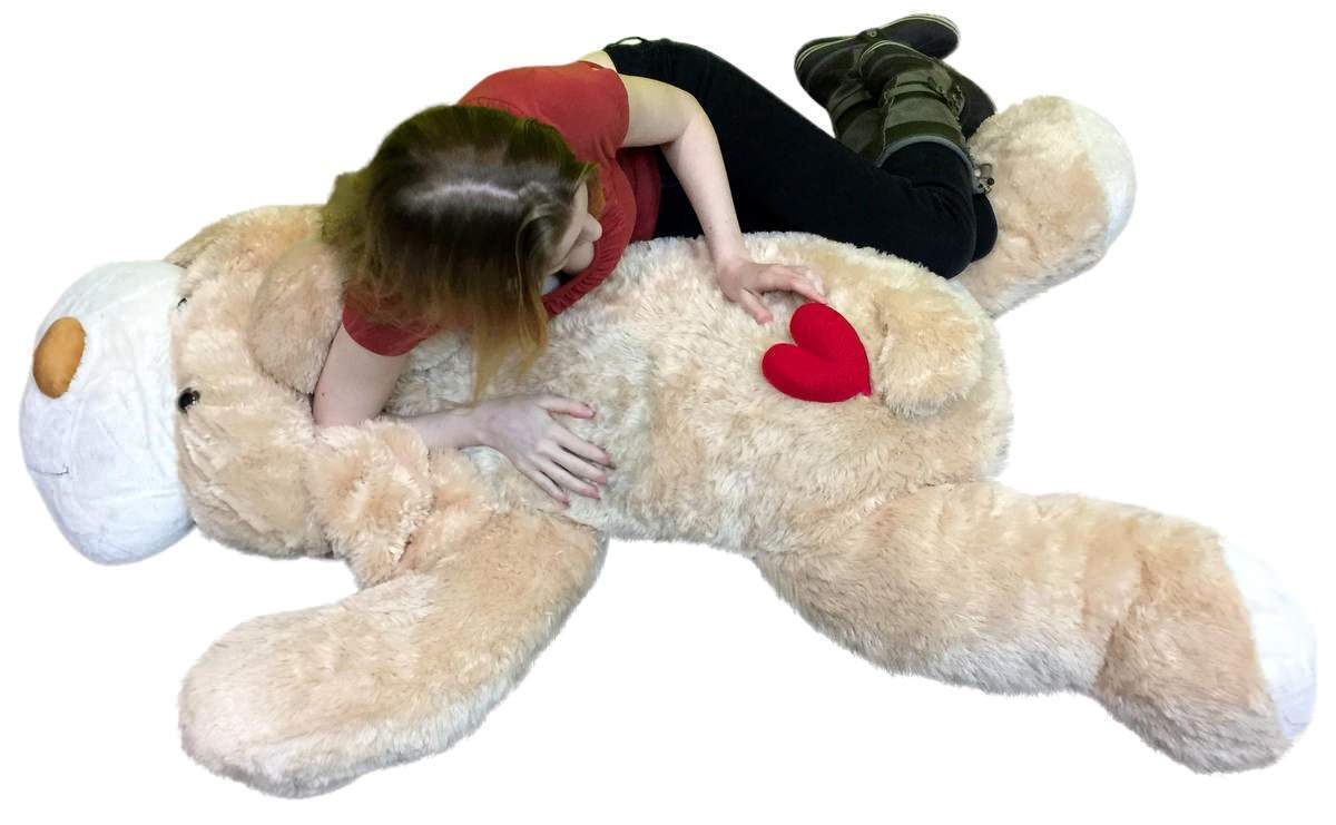 Gran Peluche Peluche Cachorro Perro Suave De 5 pies 60 Pulgadas, corazón rojo en amor a tope para mostrar