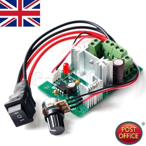 6V-30V 6A Reversible DC Motor Speed Control PWM Controller for 6V//12V//24V WT