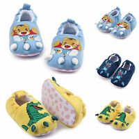 Baby Boys Girls Crib Shoes Soft Sole Slip-on Cartoon Sandals  Prewalker 0-18M