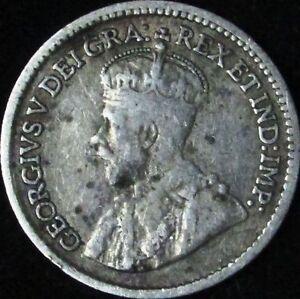 1913-Fine-Canada-Silver-5-Cents-KM-22