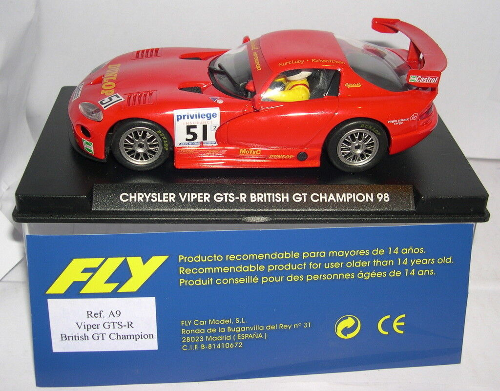 FLY A9 CHRYSLER VIPER GTS-R BRITISH GT CHAMPION 98 MB