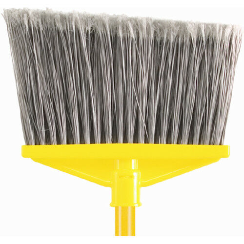 Rubbermaid Broom 55  Long, Vinyl-Coated Metal Handle, Flagged Polypropylene Fill