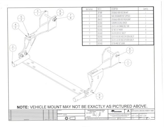 Snowbear Snow Plow Mount Kit Chevy 1500 Silverado Sierra 14-17 397-134 on meyer plow diagram, plow switches diagram, plow hydraulic diagram, plow parts diagram, plow wheels, plow design diagram, plow relay diagram,