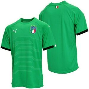 2cc6e47981b Details about PUMA ITALY Italia GK National FIGC Green Yellow Goalie Keeper  Soccer Jersey