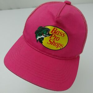 Bass Pro Shops Pink Trucker Cap Hat Adjustable Baseball Youth