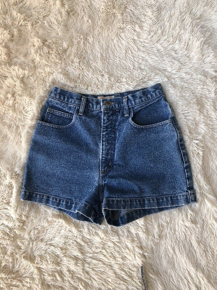 Vintage Guess Jeans bluee Women Denim Shorts High Waisted Sz 29 Made in USA