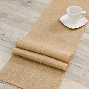 Juteband-Tischlaeufer-Tischband-30cm-x-10m-breit-Sackleinen-Jute-Natur-Dekoration
