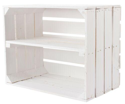 DIY 4er Set Gemischtes Paket Weiße Obstkisten//Weinkisten//Apfelkisten Vintage