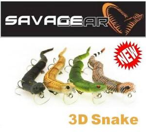 Savage-Gear-3D-Snake-8-034-WS-200-Multiple-colors