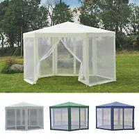 Outsunny Patio Gazebo Netting Canopy Garden Party Tent Steel Outdoor Waterproof