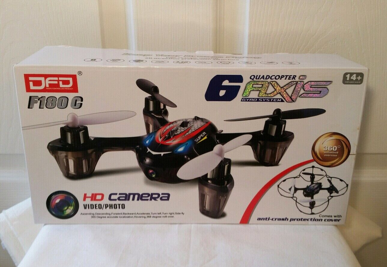 F180C Mini RC Quadcopter Drone W   HD telecamera Video pcalienteo 2.4GHz 6 Axis Gyro  outlet online economico
