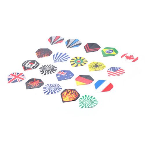 20Pcs//lot Dart Flights Professional Shafts Throwing Toy Pattern Fli Al