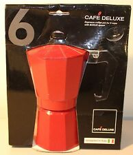 CAFE DELUXE Espresso coffee pot 6 cups NIP