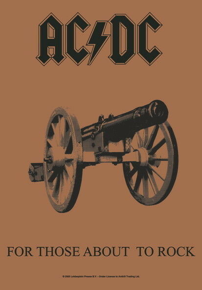"AC/DC FLAGGE / FAHNE ""FOR THOSE ABOUT TO ROCK"" POSTER FLAG POSTERFLAG"