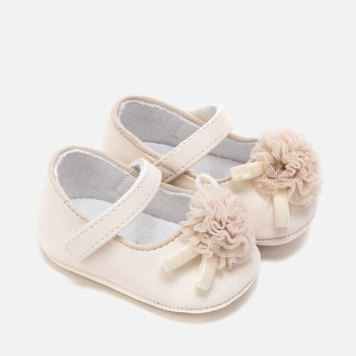 scarpe scarpine scarpette panna ballerine culla fiore elegante neonata mayoral