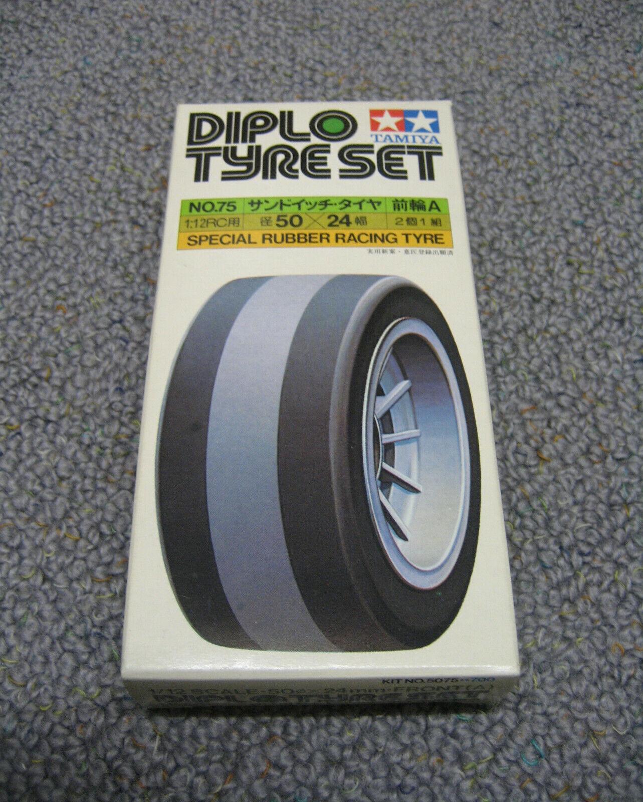 RCタミヤプールタイヤセットタイヤリム番号5075、50075新ペン先1978