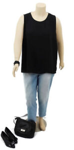 BASQUE Woman Black & White Sleeveless Top | Plus Size: 20