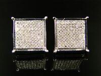 Men/ladies 12 Mm 4 Prong Diamond Stud Earrings on sale