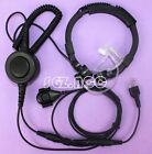 Tactical Military Throat Mic Headset/Earpiece For Midland 2 Two Way Radio PTT