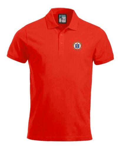 Rangers Calcio Polo Taglie S-Xxxl Logo Ricamato