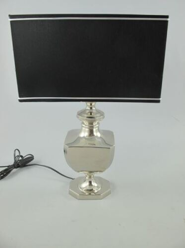 Lampe vernickelt Schirm H.50cm Vintage Jugendstil Geschenk Wand Leuchte