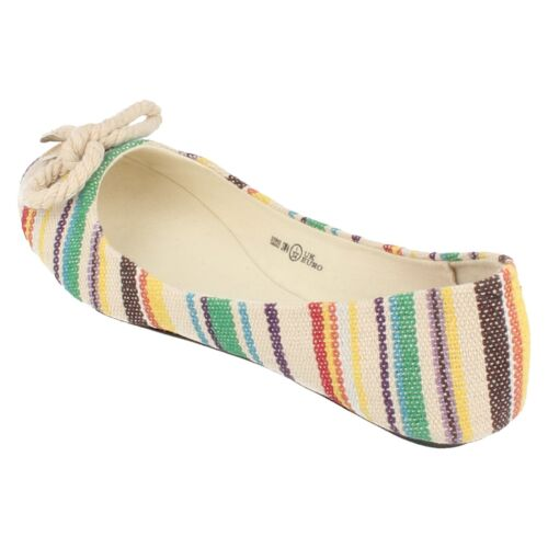 Girls Spot-on beige multi-coloured slip-on shoe with bow detail H2229
