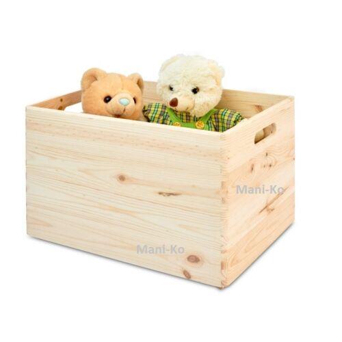 Storage Box Plain Wood Large Trunk Keepsake Souvenirs Wooden Boxes with Handles
