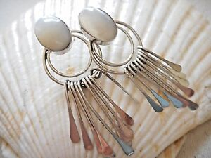 Vintagte-Taxco-Mexico-Sterling-Silver-Lg-Mother-of-Pearl-Dangles-Earrings-4953F