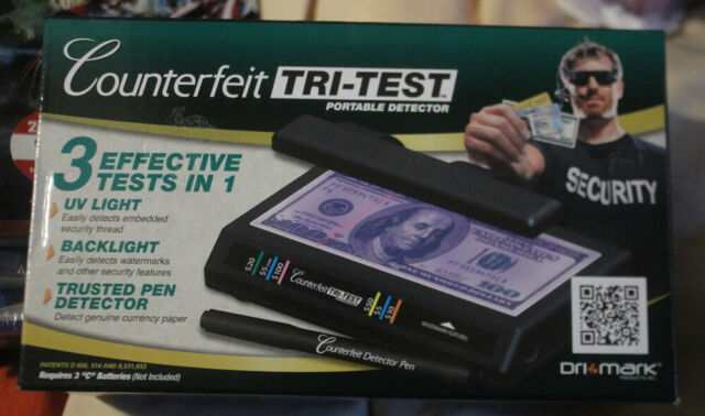 Dri-Mark Tri Test Counterfeit Bill Detector UV with Pen 7 x 4 x 2 1//2 351TRI
