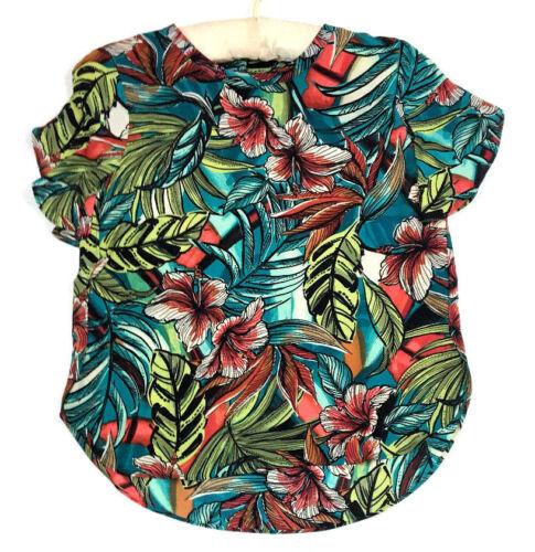 Medium PETITE MSRP $49.99 Ann Taylor Loft Floral Flutter Sleeve Blouse