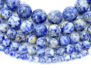 Natural-Blue-Spot-Jasper-Gemstone-Round-Beads-16-039-039-2mm-3mm-4mm-6mm-8mm-10mm-12mm