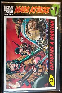 MARTE-ATTACCHI-2012-1-25-Capturing-A-MARTIAN-COVER-CARTA-NM-1st-Stampa-IDW