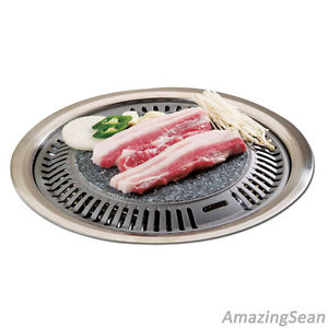 Korean Barbeque Stone Plate Stove Top Bbq Steak Chicken