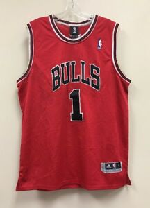 sports shoes 19323 f6d9f Vintage Derrick Rose Chicago Bulls Adidas NBA Jersey Size ...