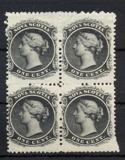 1860  Queen Victoria Nova Scotia block of 4 Mint and Original Gum