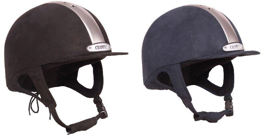 Champion evolución puissance Equitación Sombrero De Gamuza Azul Marino PAS015 Negro 6 1 4  -7 3 4