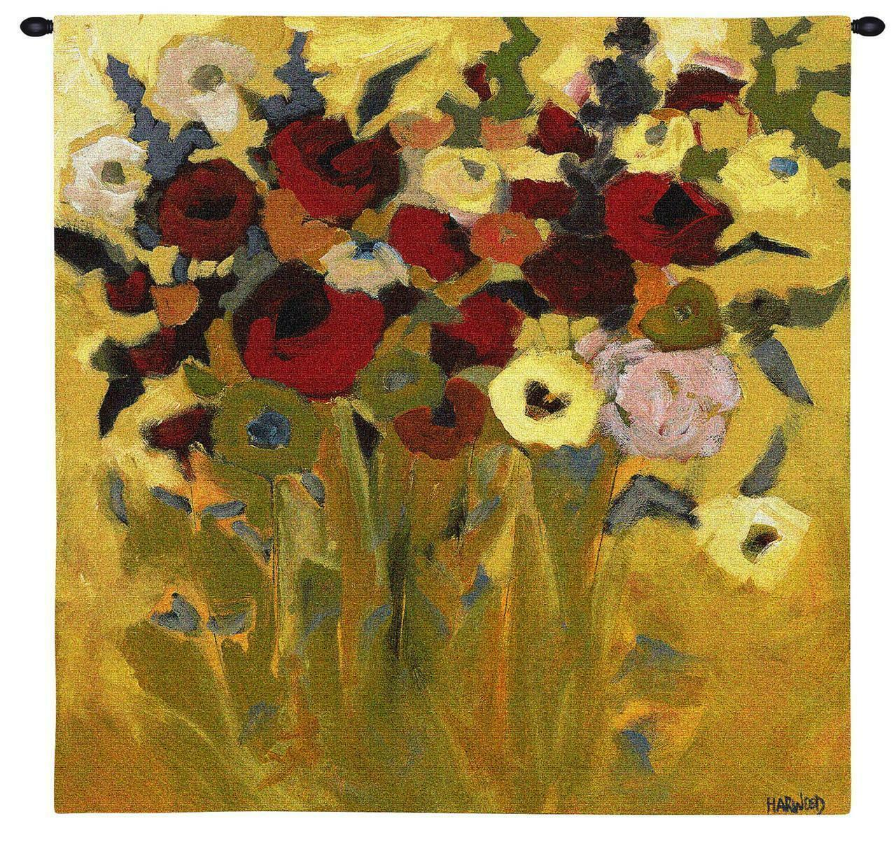 60x60 BOTANICA Floral Tapestry Wall Hanging