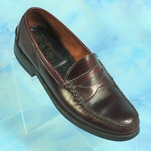700b0f2dd22 Johnston Murphy Aristocraft Mens 10 B Penny Loafers Burgundy Moc Toe ...