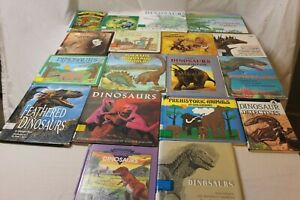 Huge Lot 18 Dinosaur Books Vintage Childrens Books Prehistoric Animals Science