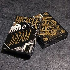 Dream Black Gold Deck Bicycle Playing Cards Poker Size USPCC Custom Limited New