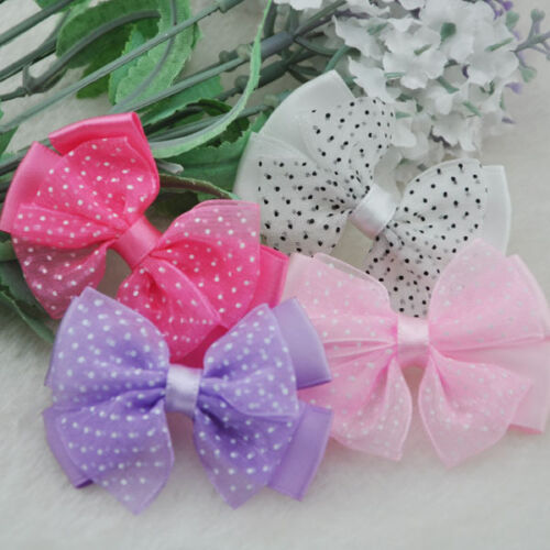 20 un Mini Arcos de la cinta de flores de Organza puntos Hágalo usted mismo Craft Apliques de boda//// B53