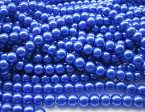 Wholesale Glass Pearl Round Spacer Loose Beads 4mm 6mm 8mm 10mm Jewellery Making