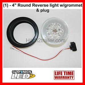 """Back up White Reverse Light 4/"""" Round Truck Trailer"""