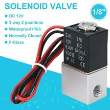 18 12v Dc Electric Solenoid Valve Air Gas Water Fuel Normally Closed 2 Way